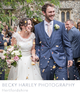 Hertfordshire wedding photographer Becky Harley on the English Wedding Blog