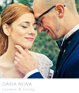 Daria Nova London and Surrey wedding photographers