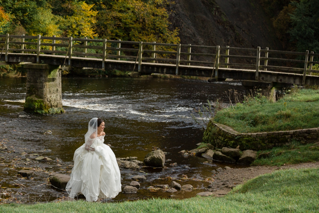 A romantic teepee wedding in Yorkshire with portraits at Bolton Abbey (15)