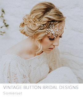 Vintage Button Bridal Designs by Clare Lloyd in Somerset