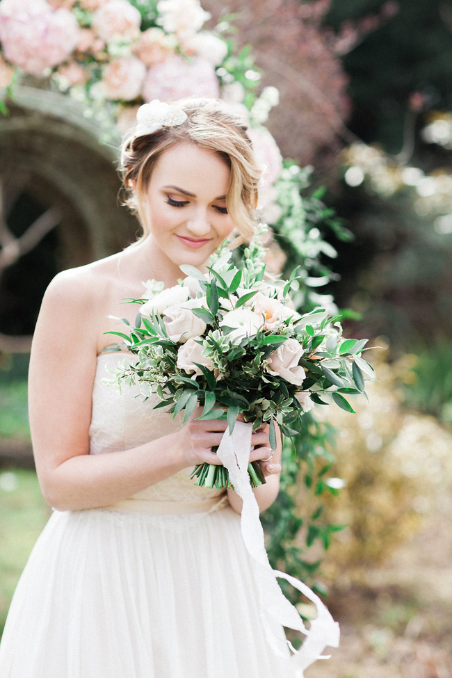 Greenery and statement blooms for an English garden wedding photographed by Bowtie and Belle (21)