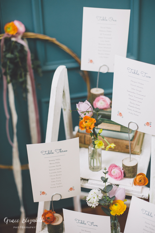 Bright ideas for a spring wedding with whimsical stationery by Dearly Beloved (8)