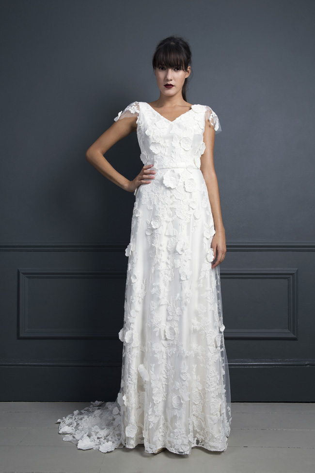 Inspired by the New York club scene of the 1970s... Halfpenny London's Standing on Stardust 2017 wedding dresses (12)