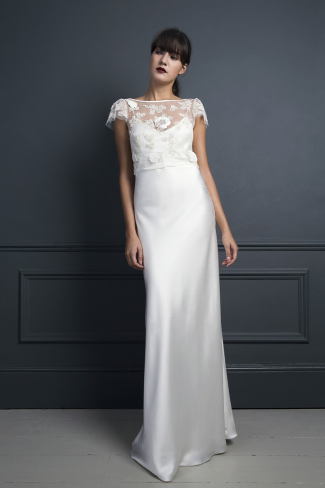 Inspired by the New York club scene of the 1970s... Halfpenny London's Standing on Stardust 2017 wedding dresses (26)