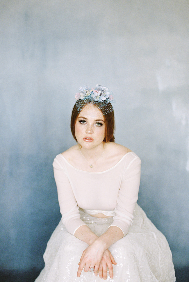 Paper magnolias, calligraphy and dusky blue ethereal beauty - bridal inspo by Jess Petrie Photography (20)