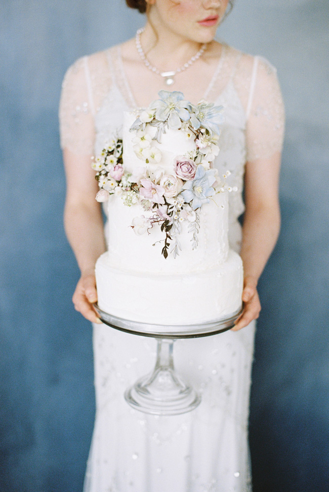 Paper magnolias, calligraphy and dusky blue ethereal beauty - bridal inspo by Jess Petrie Photography (25)