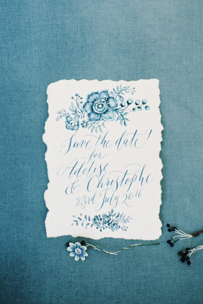 Paper magnolias, calligraphy and dusky blue ethereal beauty - bridal inspo by Jess Petrie Photography (35)