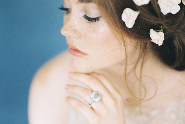 Paper magnolias, calligraphy and dusky blue ethereal beauty - bridal inspo by Jess Petrie Photography (37)