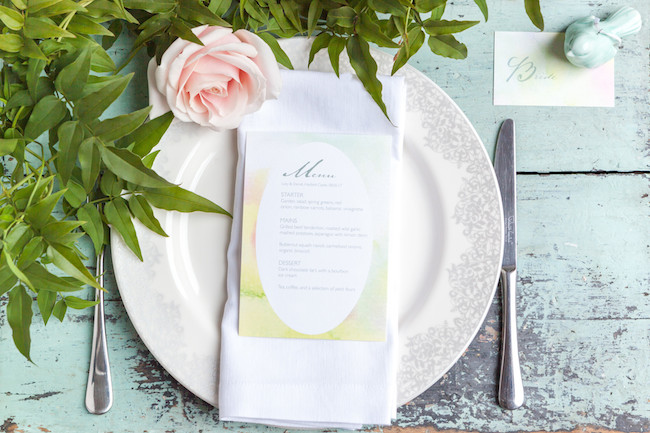 sweet and simple fonts with feminine watercolour touches - invitations by The Little Blue Brush (8)
