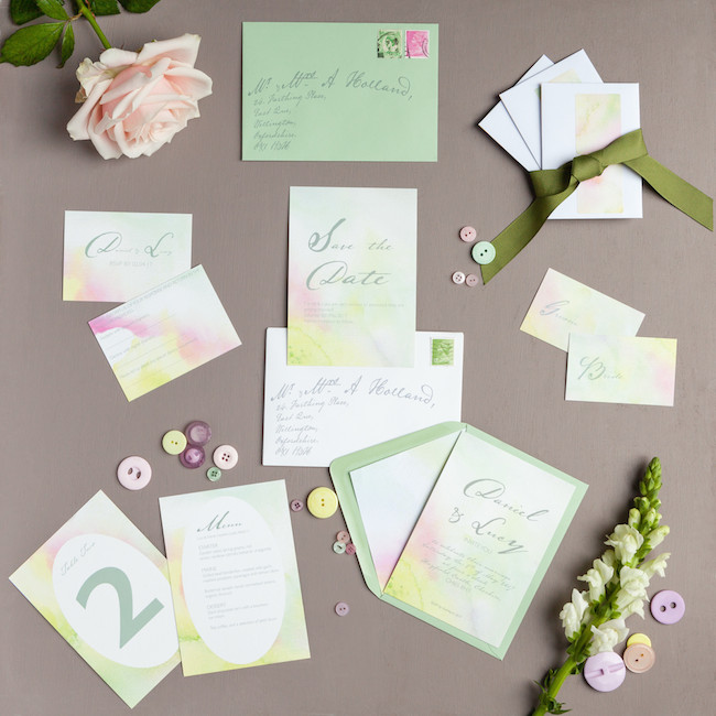 sweet and simple fonts with feminine watercolour touches - invitations by The Little Blue Brush (12)