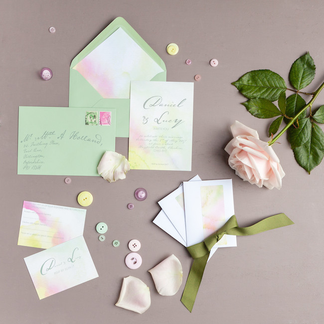 sweet and simple fonts with feminine watercolour touches - invitations by The Little Blue Brush (10)