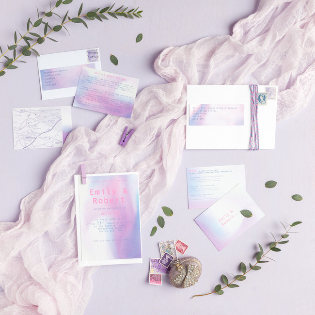 sweet and simple fonts with feminine watercolour touches - invitations by The Little Blue Brush (7)