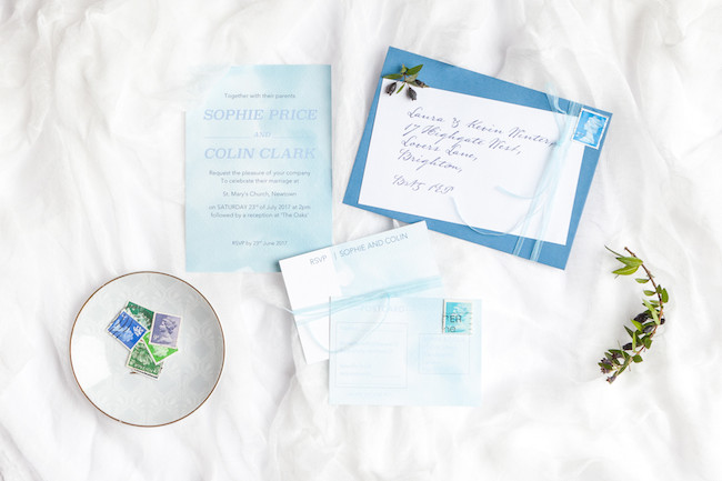 sweet and simple fonts with feminine watercolour touches - invitations by The Little Blue Brush (1)