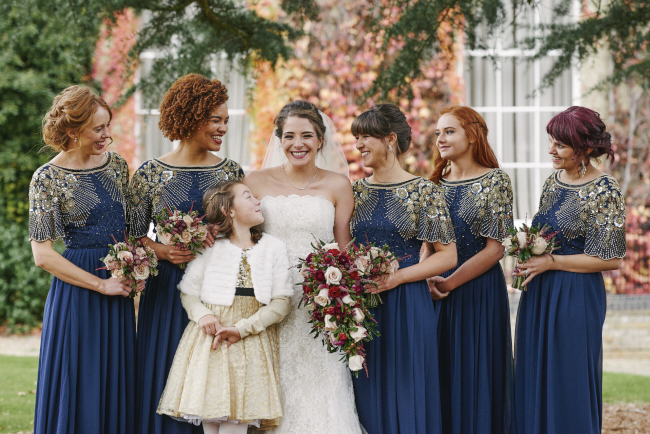 Gorgeous statement bouquet and winter styling for a Beaumont Estate wedding with Rose Images (8)