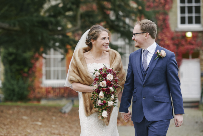 Gorgeous statement bouquet and winter styling for a Beaumont Estate wedding with Rose Images (9)
