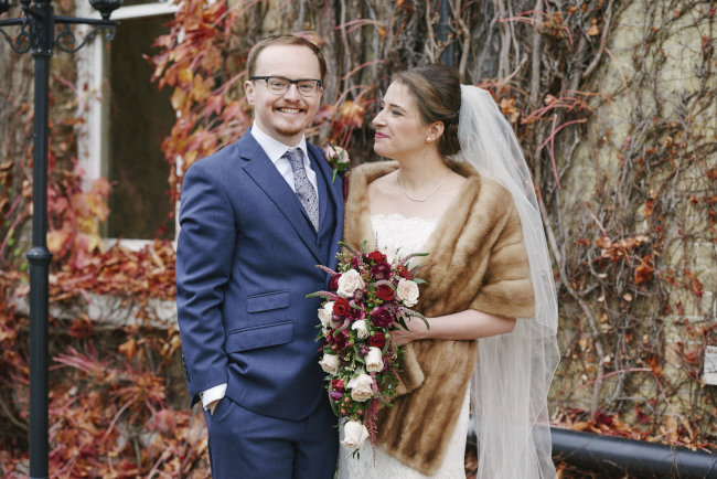 Gorgeous statement bouquet and winter styling for a Beaumont Estate wedding with Rose Images (10)