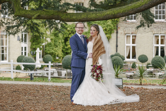 Gorgeous statement bouquet and winter styling for a Beaumont Estate wedding with Rose Images (12)
