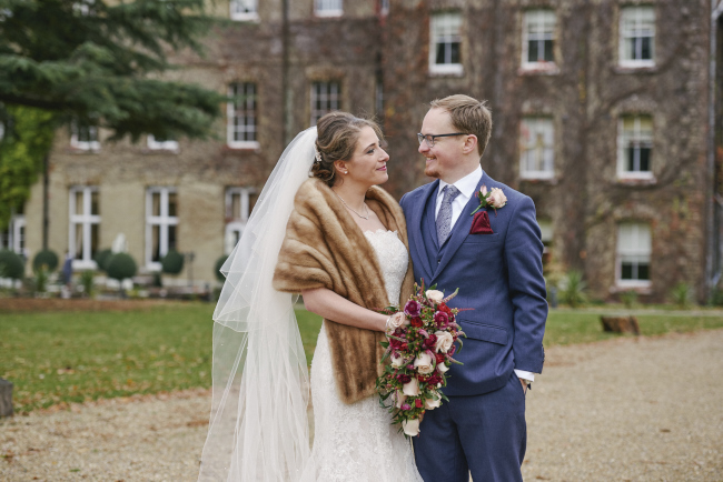 Gorgeous statement bouquet and winter styling for a Beaumont Estate wedding with Rose Images (13)
