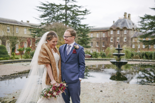 Gorgeous statement bouquet and winter styling for a Beaumont Estate wedding with Rose Images (15)