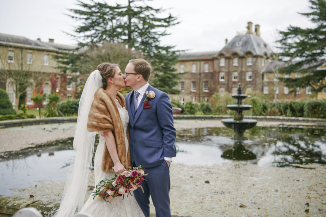 Gorgeous statement bouquet and winter styling for a Beaumont Estate wedding with Rose Images (16)