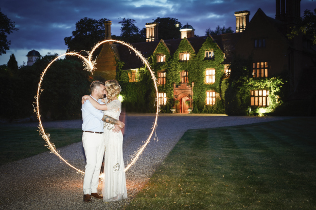 Gold, sparkly vintage glamour wedding at Woodhall Manor - Rose Images (31)
