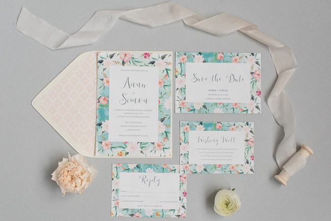 Chic and pretty wedding invitations by Polka Dot Paper on the English Wedding Blog (10)