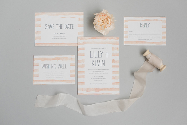Chic and pretty wedding invitations by Polka Dot Paper on the English Wedding Blog (9)