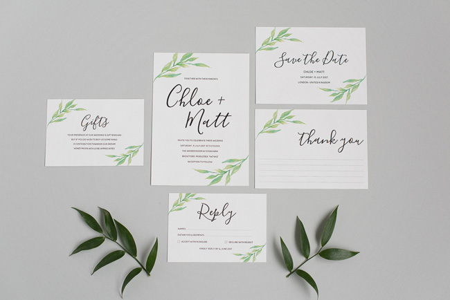 Chic and pretty wedding invitations by Polka Dot Paper on the English Wedding Blog (5)