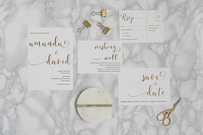 Chic and pretty wedding invitations by Polka Dot Paper on the English Wedding Blog (1)