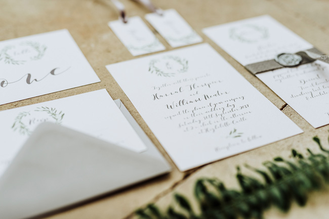 Chic botanical wedding style inspiration on the English Wedding Blog. Image credit New Forest Studio (1)