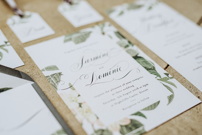Chic botanical wedding style inspiration on the English Wedding Blog. Image credit New Forest Studio (2)