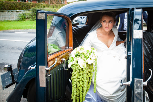 Gold styling accents and a fabulously tumbling green bouquet - Charlotte Giddings Photography (11)