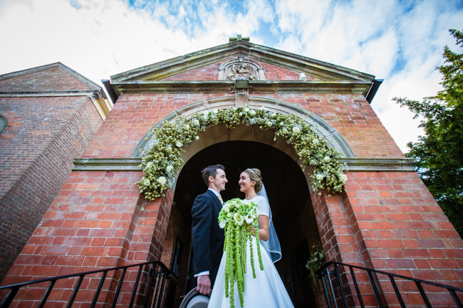Gold styling accents and a fabulously tumbling green bouquet - Charlotte Giddings Photography (13)