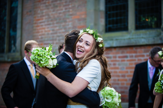 Gold styling accents and a fabulously tumbling green bouquet - Charlotte Giddings Photography (14)