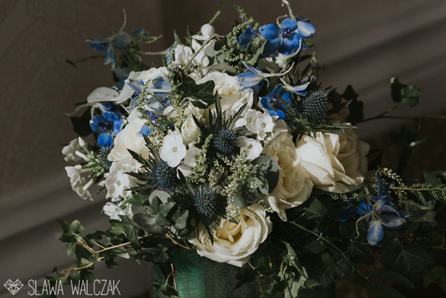 Gorgeous blues and a spectacular venue for Joanna and Cajetan's Westminster wedding, Image by Slawa Walczak (3)