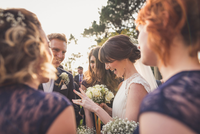 Elegant bridal style and a fun, relaxed Oak Barn wedding in beautiful Devon. Image by Lee Maxwell Photography (10)