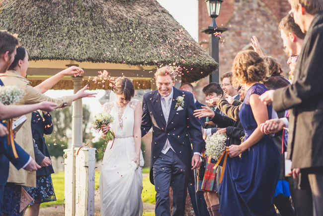Elegant bridal style and a fun, relaxed Oak Barn wedding in beautiful Devon. Image by Lee Maxwell Photography (12)
