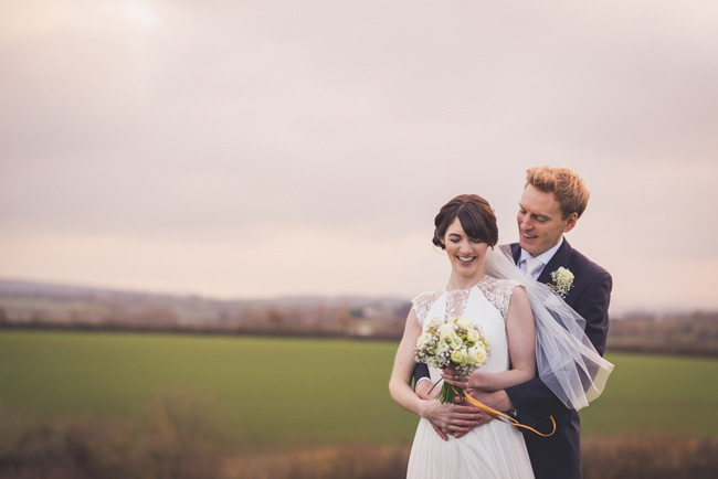 Elegant bridal style and a fun, relaxed Oak Barn wedding in beautiful Devon. Image by Lee Maxwell Photography (20)