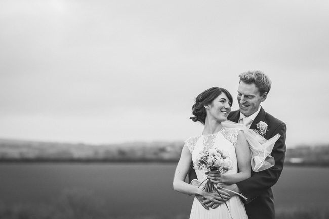 Elegant bridal style and a fun, relaxed Oak Barn wedding in beautiful Devon. Image by Lee Maxwell Photography (21)