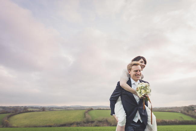 Elegant bridal style and a fun, relaxed Oak Barn wedding in beautiful Devon. Image by Lee Maxwell Photography (23)