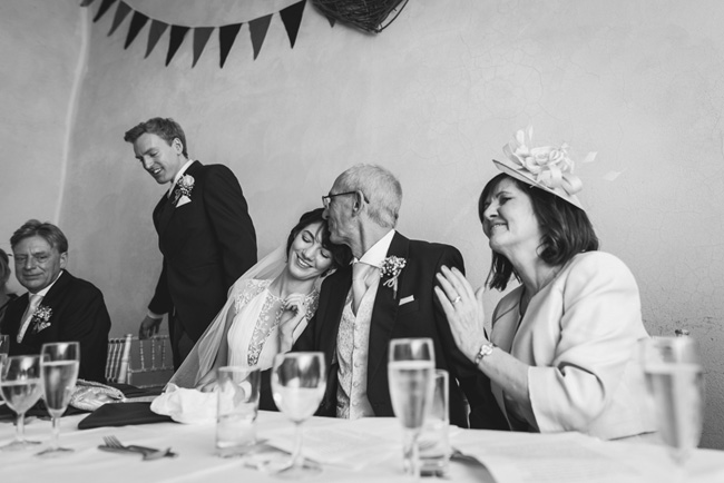 Elegant bridal style and a fun, relaxed Oak Barn wedding in beautiful Devon. Image by Lee Maxwell Photography (26)