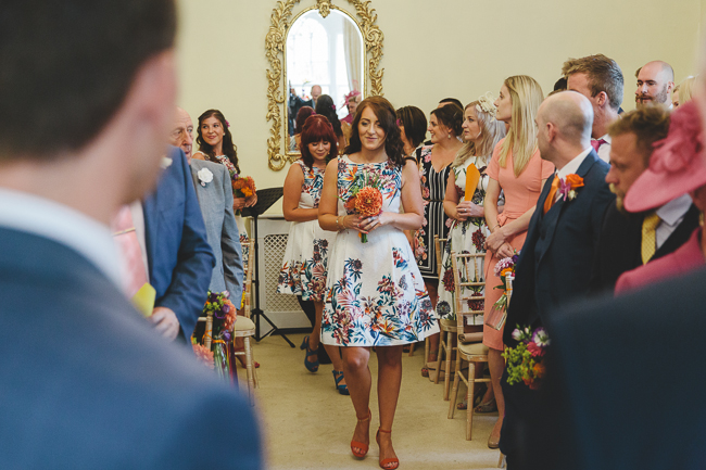 Fabulous florals, bright coloured everything for an amazing wedding at Pennard House. Image credit Mark Leonard Photography (5)