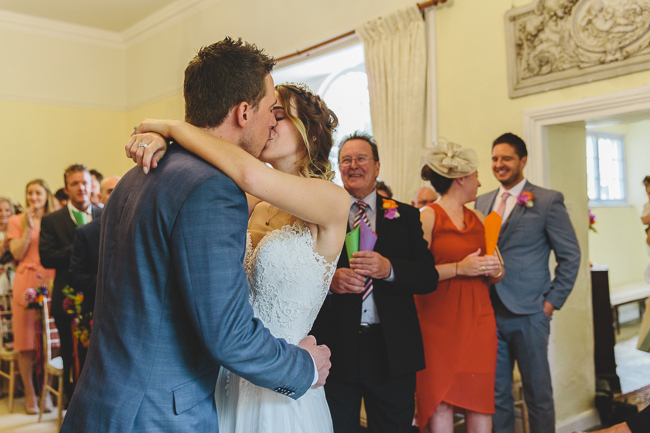 Fabulous florals, bright coloured everything for an amazing wedding at Pennard House. Image credit Mark Leonard Photography (9)