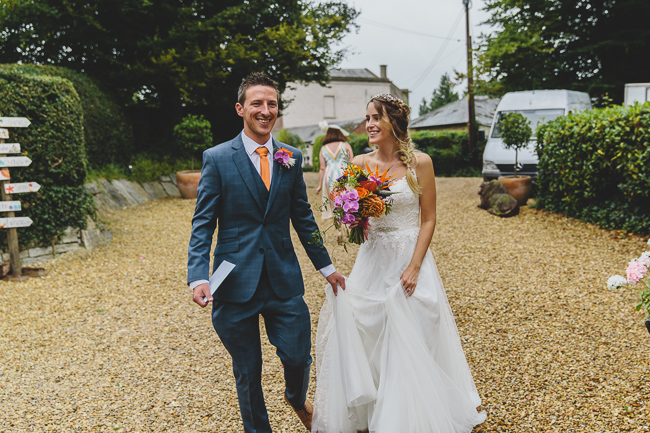 Fabulous florals, bright coloured everything for an amazing wedding at Pennard House. Image credit Mark Leonard Photography (11)