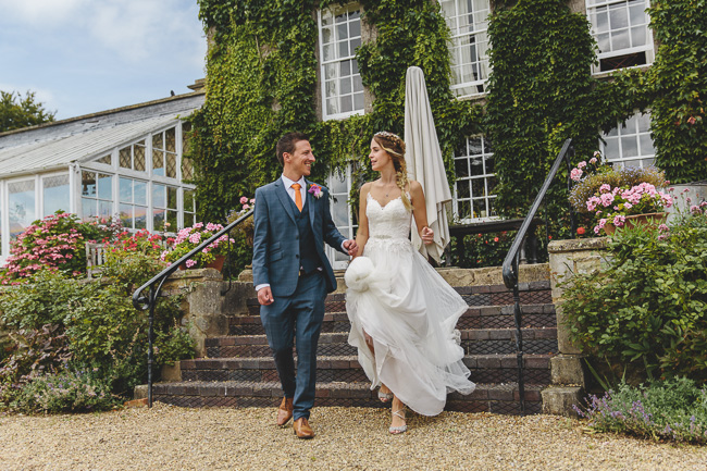 Fabulous florals, bright coloured everything for an amazing wedding at Pennard House. Image credit Mark Leonard Photography (21)