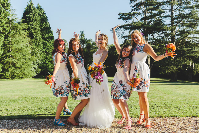 Fabulous florals, bright coloured everything for an amazing wedding at Pennard House. Image credit Mark Leonard Photography (27)