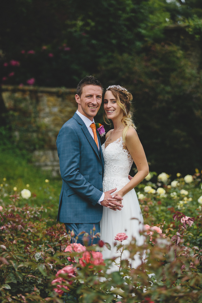 Fabulous florals, bright coloured everything for an amazing wedding at Pennard House. Image credit Mark Leonard Photography (34)