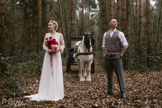 Dark, opulent florals and woodland wedding styling on the English Wedding Blog. Image credit Grace Hill Photography (9)