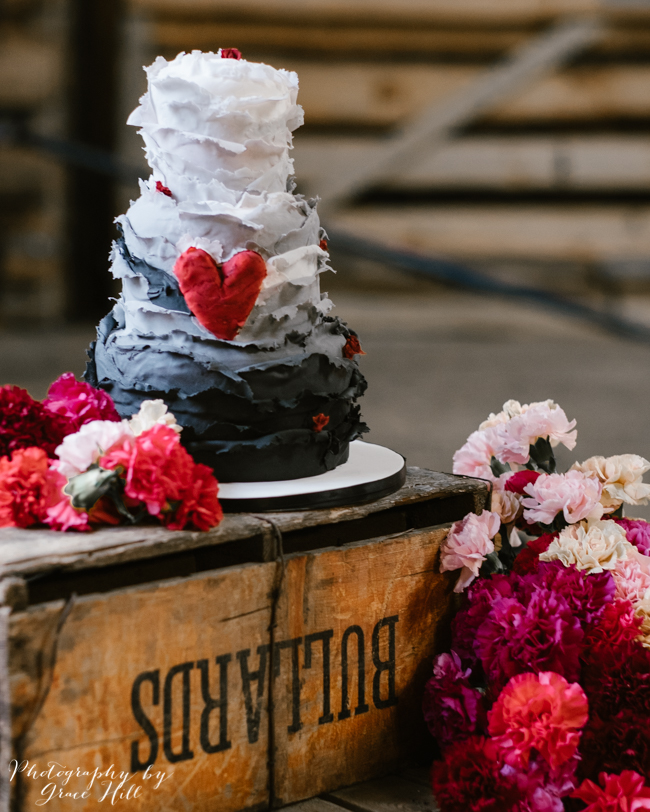 Dark, opulent florals and woodland wedding styling on the English Wedding Blog. Image credit Grace Hill Photography (31)