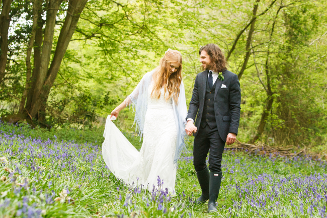 Natural, rustic wedding in bluebell woods at Fern and Field with Perceptive Photography (3)